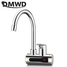 DMWD, мгновенный проточный Электрический водонагреватель, кран для кухни, мгновенный нагрев, кран, водонагреватель с светодиодный дисплеем температуры, ЕС