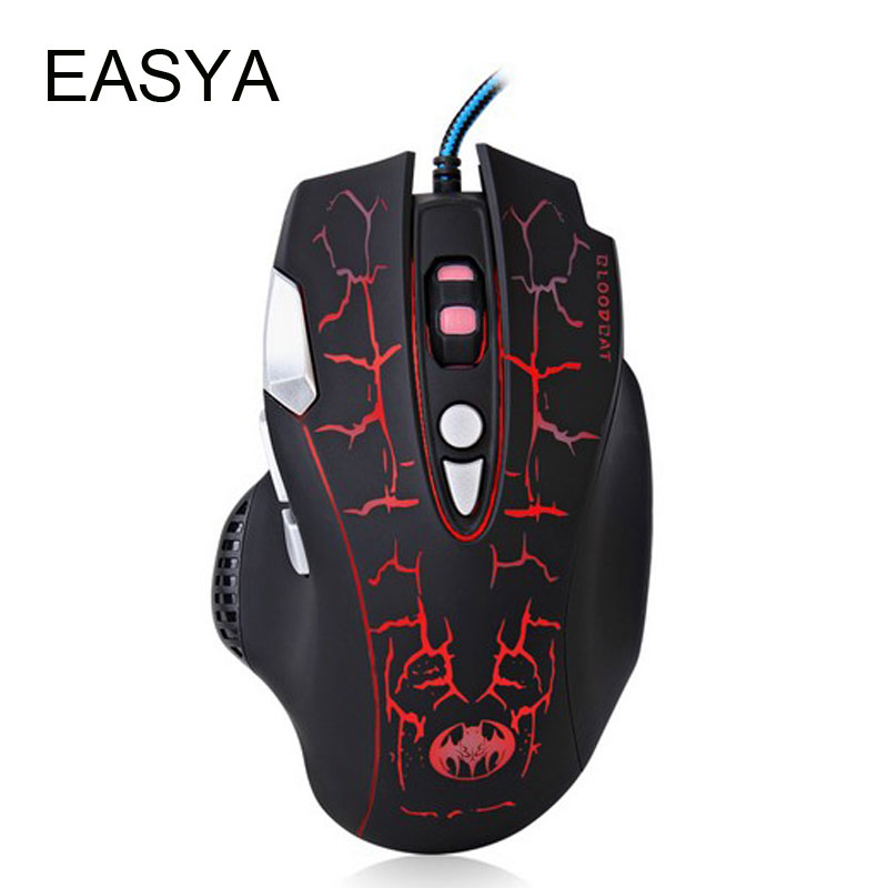 EASYA Wired Gaming Mouse Optical Mouse Gamer Professional Computer Mice Colorful Breathing LED for Laptops Desktops Use