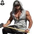 Mangas muscular Singlets Camisolas Do Hoodie Dos Homens Regatas Stringer Musculação Tanque dos homens T Camisas de Treino de Fitness Colete