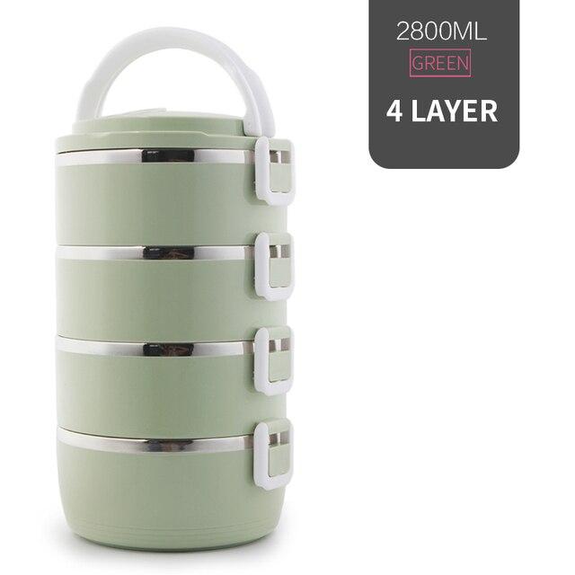 4 Layer Green Cheap bento boxes 5c6479e2ef006