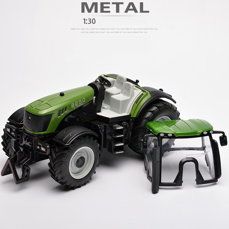 Image 3 - Farm Vehicles Car Model Engineering Car Model Tractor Engineering Car Tractor Toy Model For Children Action Figure Toys-in Diecasts & Toy Vehicles from Toys & Hobbies