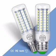 цена на E14 Led Lamp E27 Corn Bulb GU10 Bombillas Led 220V Candle Lights SMD 5730 Ampul 24 36 48 56 69 72leds Energy Saving Light 240V