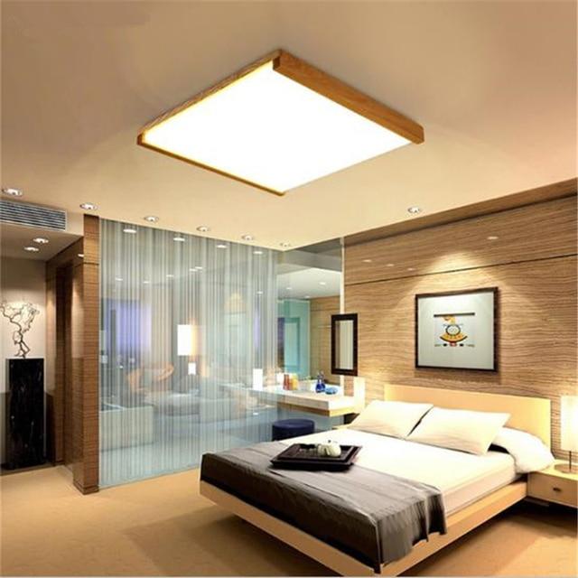 US $91.84 18% OFF Nordic Einfache Moderne Verholzung LED Decken Lampe  Wohnzimmer Lampe Küche Lampe Massivholz Lampe Freies Verschiffen in Nordic  ...