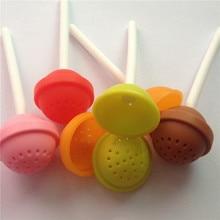 ФОТО mofunyo cute lollipop silicone tea infuser strainers filter