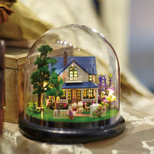 DIY Dollhouse Rotate Music Box Miniature Assemble Kits Doll House Doll Houses Casa Toys Miniature DIY Dollhouse With Furnitures(China)