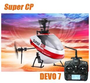 Walkera Super CP 6CH 3D RC Helicopter With DEVO 7 Transmitter 2.4Ghz RTF original walkera devo f12e fpv 12ch rc transimitter 5 8g 32ch telemetry with lcd screen for walkera tali h500 muticopter drone