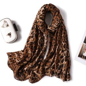 Image 2 - 2019 kobiet szalik wełna zima ciepły szal mody Patchwork chustka kobiety zagesccie wełniane szale luksusowe Big Pashmina bawełna leopard