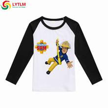 LYTLM Autumn 2018 Cartoon Fireman Sam T-shirt For Boy Girls Long Sleeve Tops Winter Clothes Brandweerman Sam Tshirt White Shirt