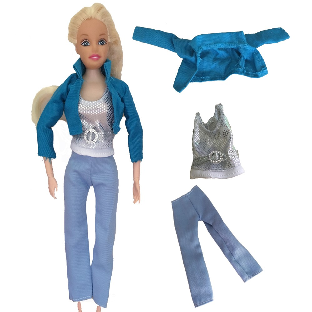 6bf56ffbdc2 Doll Clothing 1 set T shirt+pants Clothes for 11 Joints Barbie Doll ...