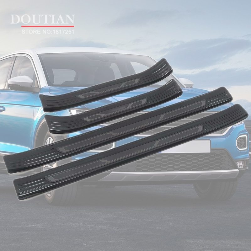 4PCS Sets Car Stainless Stee door Sill Scuff Plate For Your ROGUE 2014-2018