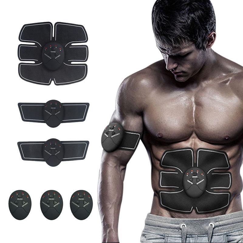 Estimulador Muscular Abdominal Equipamentos de Ginástica Para aparelhos de treinamento de Fitness Em Casa Muscular Elétrica Trainer Barriga Máquina de exercícios