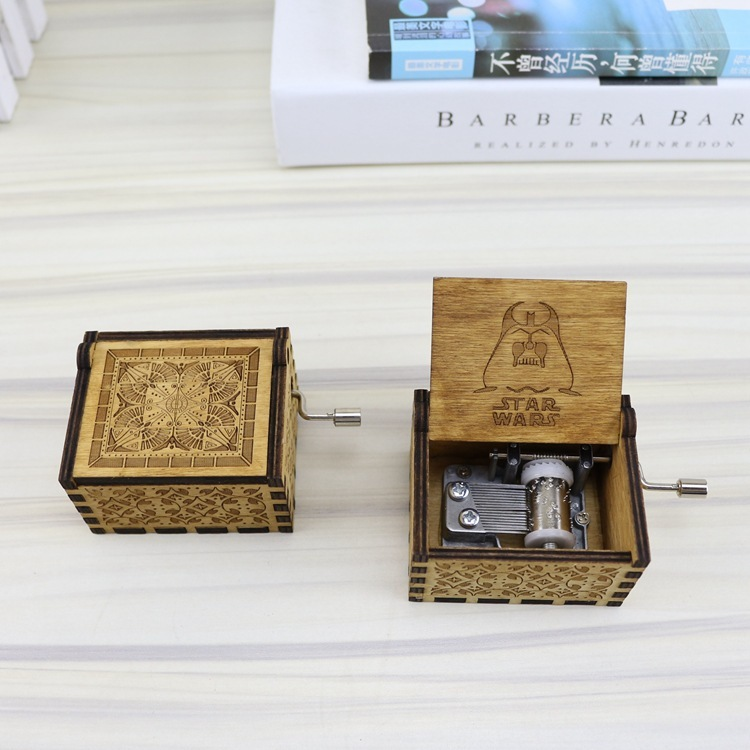 Creative Antique carved wooden game of thrones music box Beauty And The Beast Christmas gift new year gift birthday gift