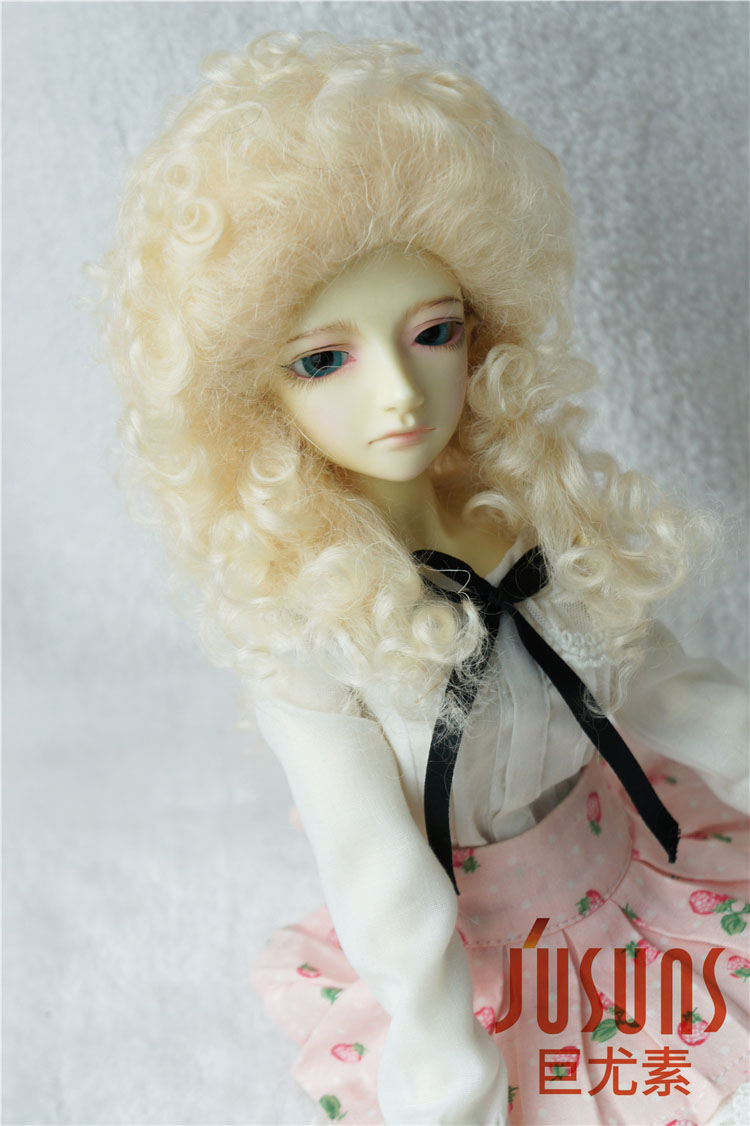 JD175 Msd  mohair doll wigs 1/4 7-8 inch  Long curly  mohair BJD wig d20313 1 4 msd mohair doll wigs princess long curly bjd wig 7 8inch doll accessories