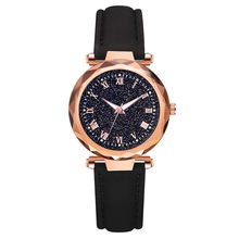 2019 New Rhombus Glass Starry Sky Women Watch Simple Temperament Ladies Luminous Leather Belt Watch Reloj de dama Wd3(China)