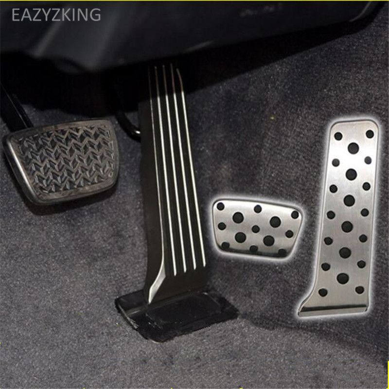 EAZYZKING Stainless Steel NO DRILL Car Styling Fuel Brake Pedal for Toyota REIZ Crown Lexus GS IS LS (LHD),auto accessories original fuel pump control computer genuine 89571 34070 for toyota yaris crown lexus rc350 300 200t 4runner sequoia tundra