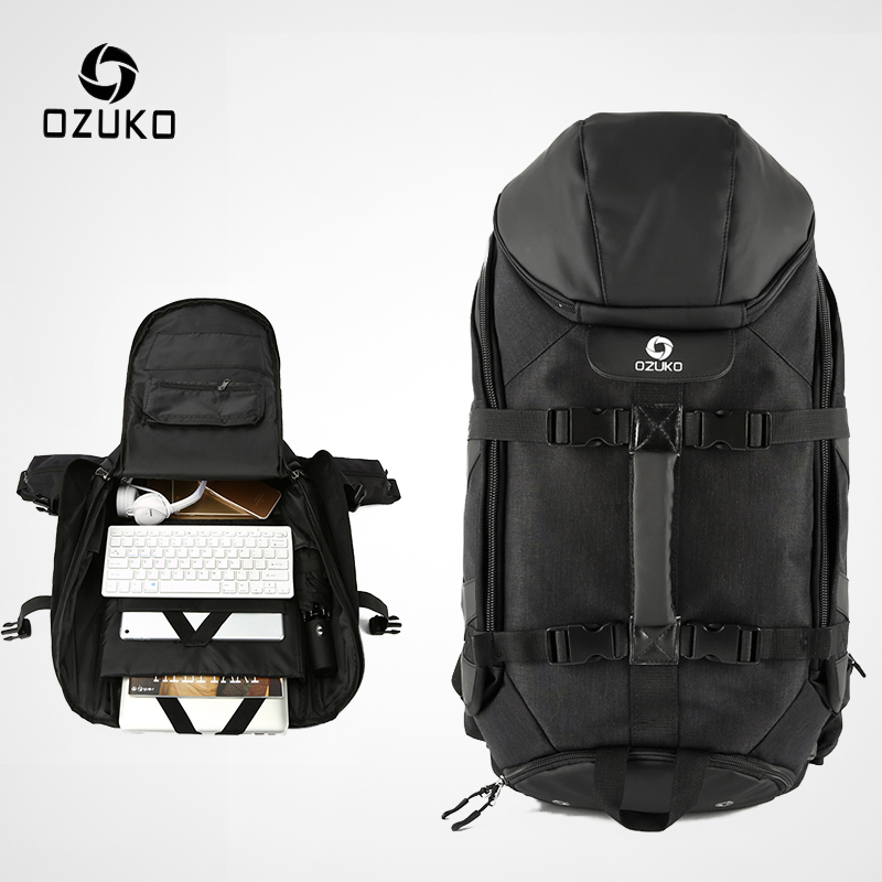 OZUKO New Men Travel Backpack Large Capacity 17 inch Laptop Bag Male Multifunction Mountaineering Backpacks Outdoor Sport BagOZUKO New Men Travel Backpack Large Capacity 17 inch Laptop Bag Male Multifunction Mountaineering Backpacks Outdoor Sport Bag