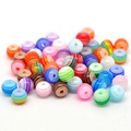 Fine DIY Beads Jewelry 500PCs Mixed Stripe Resin Beads Round Beads For Making Bracelet & Necklace Accessories Gifts 6mmDia.