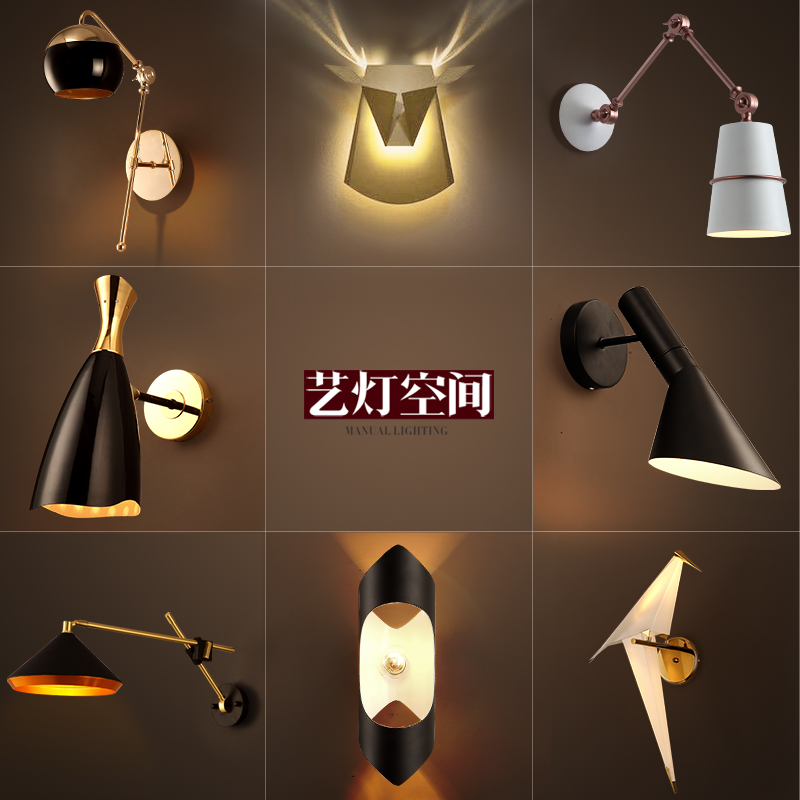ФОТО American vintage Iron loft industrial wall lamp indoor lighting bedside lamps wall lights for home 110V/220V E27 Edison Bulb