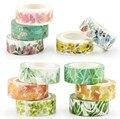 Romantische Floral Papier Washi Klebeband 15mm * 7m Blumen Masking Tapes Dekorative Aufkleber DIY Schreibwaren Schule Liefert