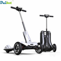 2017 New Arrival 10 Inches Electric Scooter Folding Three Wheels Electric Skateboard Bicycle With APP