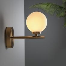 Round Ball Glass wall lamps modern creative circular bedroom living room wall lighting home decor indoor wall lighting American