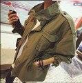 Армия зеленый друг женщины пальто мода погон фрок Jackest Outcoats