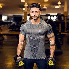 Fashion fitness gray T-shirt men's 2019 men's casual short-sleeved shirt round neck men's T-shirt jogger bodybuilding shirt цена 2017