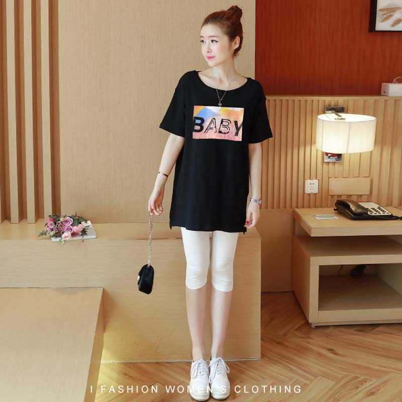 HziriP Plus Size 2018 New Summer Maternity Tees Casual Loose Printing Cotton Short Sleeve T-shirts Women Tops Pregnancy Clothes