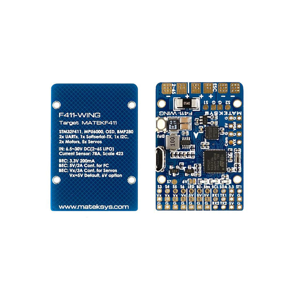 Matek Systems F411 WING STM32F411 Flight Controller Control with INAVOSD MPU6000 BMP280 support Fly wings Fixed