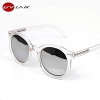 UVLAIK Oversized Cat Eye Sunglasses Women Round Vintage Luxury Brand Female Pink Sun Glasses Women's Glasses Feminine Mirror