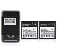 New 2x 1500mAh BA700 Battery Charger For Sony Ericsson ST18i MT11i MT15i MK16i Galaxy Xperia Neo