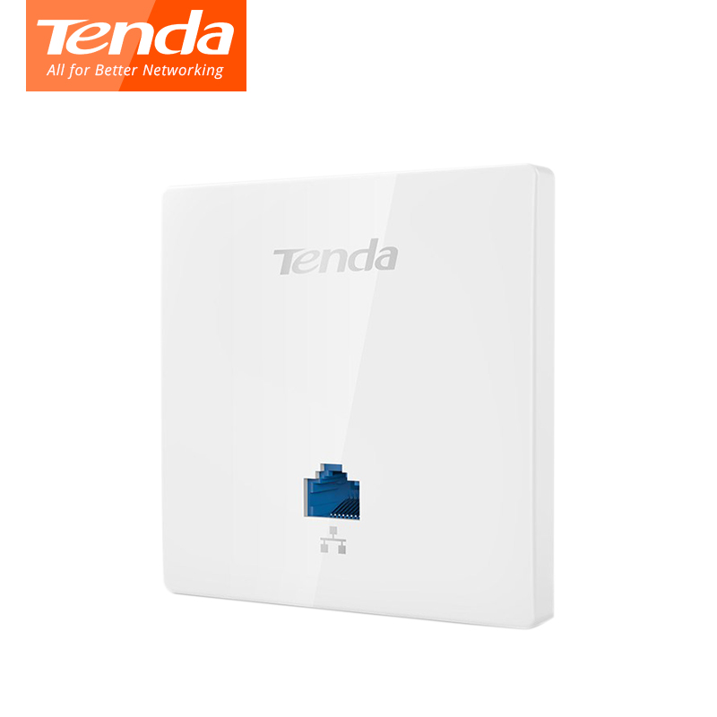 Tenda W6-S N300 in-wand Wireless Access Point, 300 Mbps Indoor Wand WiFi AP, Client + AP, IEEE 802.11n/g/b PoE, PPTP, L2TP 20 Kunden