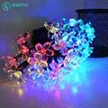 30led lámpara Flor luz de la secuencia Solar panel solar de carga de Tres modos de luz de navidad festival wedding party envío gratis
