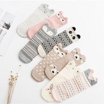 Cute Animal Women Cotton Socks Female