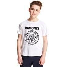 419297a14 Moda banda Ramones niños camiseta niños niñas manga corta Camisetas punk rock  camisetas de los niños