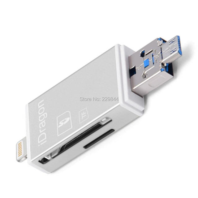 reputable site bb1af 6b1b0 US $13.99 | Memory Card Reader USB SDHC Micro SD Card Adapter for IOS 11  iPhone X 8/8 Plus 7/7 Plus 6S/6S Plus Android S6 S7 S5 S4 -in Memory Cards  ...