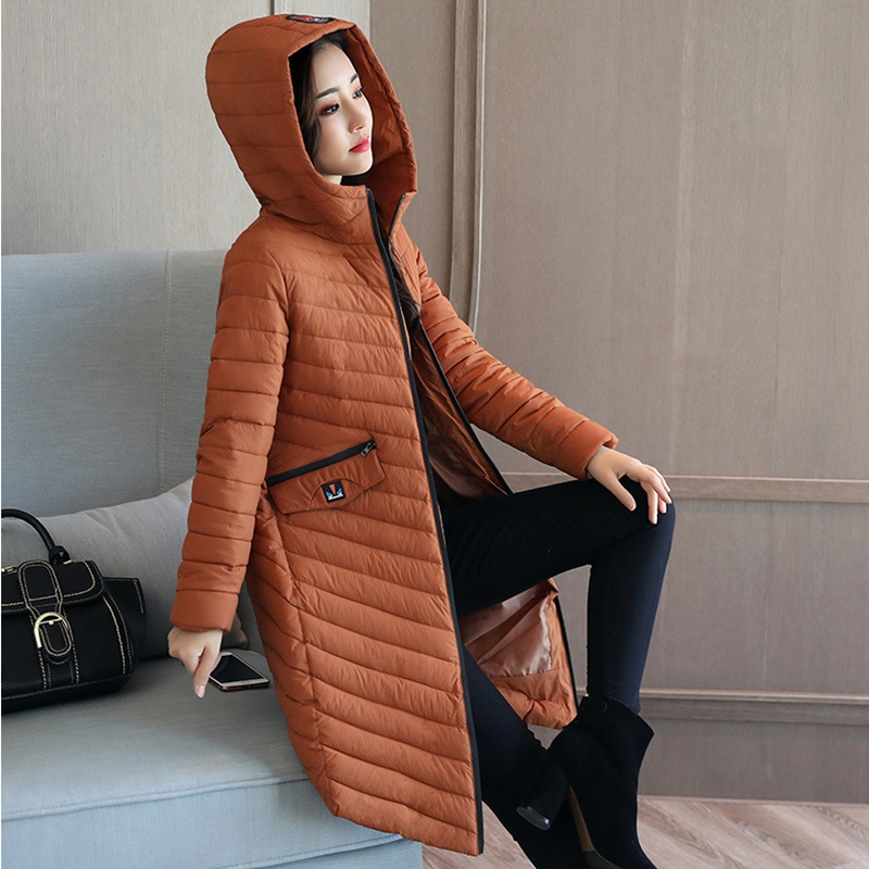 2017 Womens Winter Down Cotton Coat Jackets Women Long Thick Warm Hooded Parkas Female Wadded Jacket hot sale W218