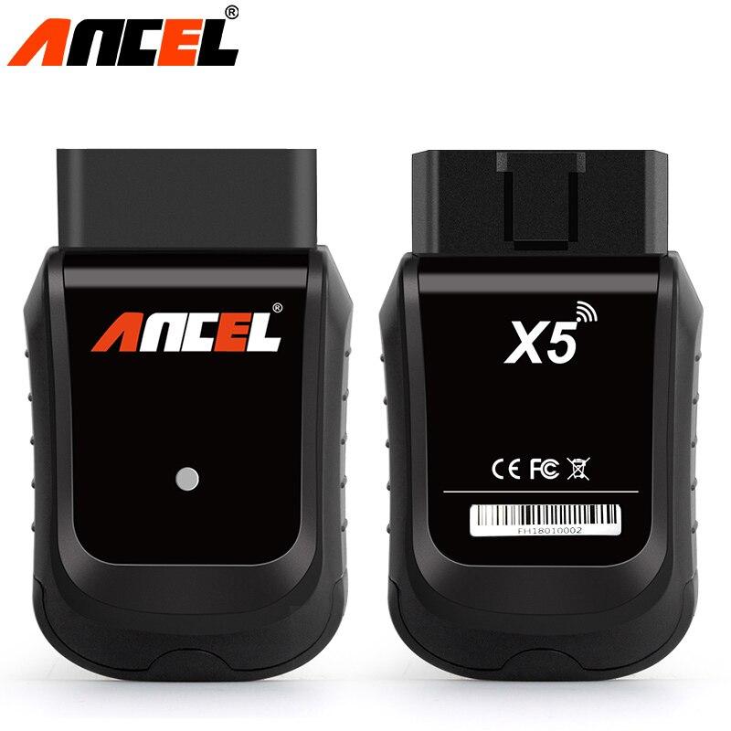 Ancel X5 Easydiag OBD2 Scanner ABS SRS DPF Réinitialiser le Codage D'ECU Auto Voiture Outil De Diagnostic Tous Les Système Wifi Scanner Avec 8 pouce Windows dans Batterie Testeurs de Automobiles et Motos