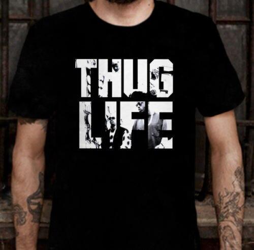 Новый бандит жизни тупак шакур SAKUR 2PAC альбом футболки мужчин рок-группа хип-хоп топы тройники короткий рукав футболки евро размер S-3XL