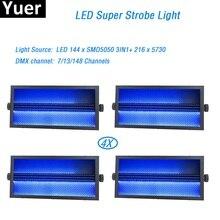 4Pcs/Lot 2019 LED Stage Light Professional Led Strobe 144Pcs SMD5050 3IN1+ 216PCS 5730 DMX 7/13/148 Channels for party dj
