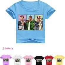 8bbab90947550 2-16Years Bobo Choses D été 2018 Bébé T-shirt Gta 5 jeu 360 Enfant Fille  Tops T-shirt Enfants Jeresy Adolescentes Garçons Vêteme.