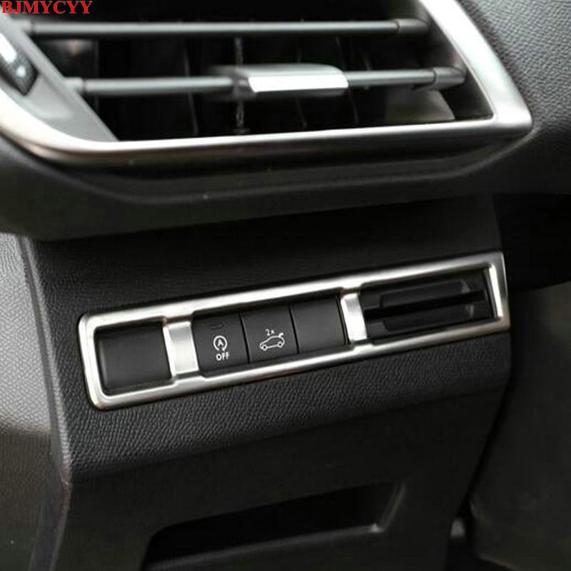 BJMYCYY 2017 Peugeot 5008 3008 GT aksesuarları paslanmayan poladdan - Avtomobil daxili aksesuarları - Fotoqrafiya 4