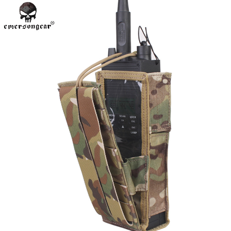 Emersongear PRC148/152 Tactical Radio Pouch Hunting Airsoft Paintball Combat Gear Molle EM8350 Genuine Multicam AOR Khaki Coyote