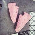 Классика Все Белые Черный Розовый Повседневная Обувь Женской Обуви Дышащая Обувь Для Ходьбы Плюс Размер Открытый Туфли На Платформе Бисквит