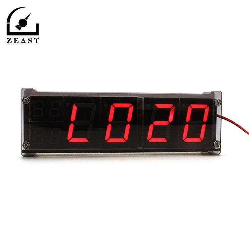 5ca7630ee1a Novo LED Carro Tubo Auto Indoor Outdoor Temperatura Termômetro Digital  Levou Despertador luminoso Relógios de Caráter