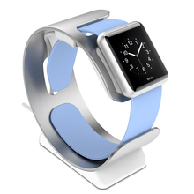 Spinido Premium Aluminum Watch Men&Women Stand Charging Holder for Apple Watch Stand(Silver)