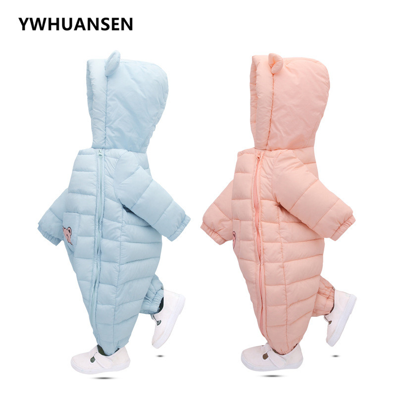 YWHUANSEN Down Cotton Winter Girl's Body Cute Newborn Boy Clothes Warm Infant Clothes Rompers Girl Coveralls New Baby Products