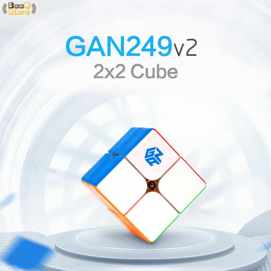 2x2 GAN 249 магический куб скорость магический куб головоломка без наклеек 249 v2 профессиональная игрушка чемпионов для детей Новая версия образования