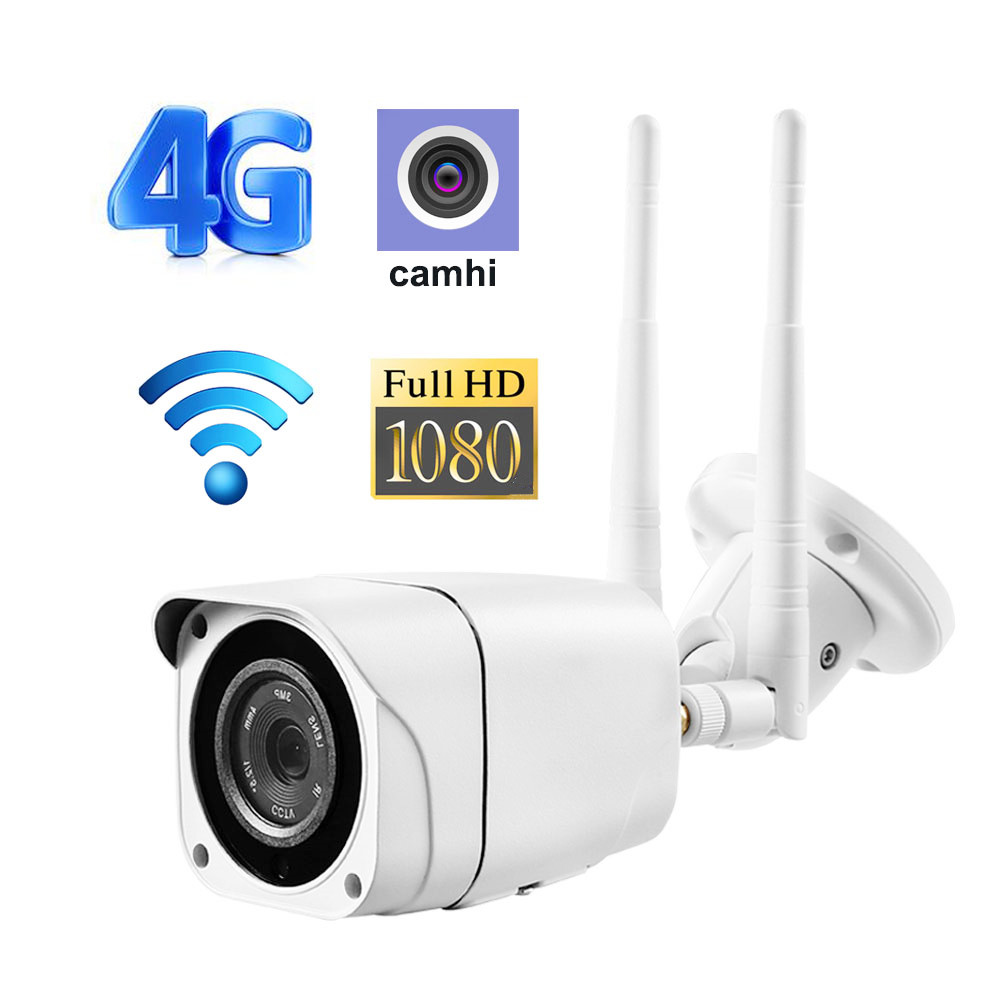 Wireless Bullet Wifi Camera GSM 3G 4G SIM Card 1080P HD IP Camera Outdoor Security CCTV Motion Detection Surveillance P2P Camhi
