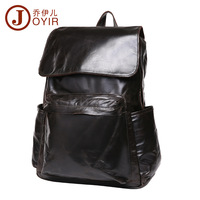 100 Guarantee Real Genuine Leather Men Backpack Vintage Cow Leather Men S Travel Bags High Grade